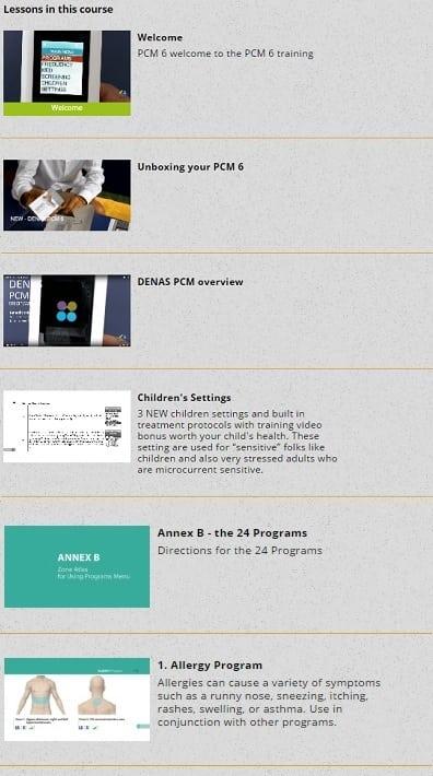 DENAS PCM 6 Training welcome children's settings